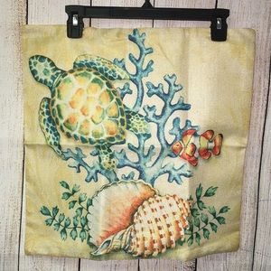 Sea Turtle Accent Pillow Cover